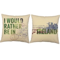 Rather Be In Ireland Throw Pillows