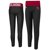 Oklahoma Sooners Ladies Pivot II Yoga Leggings - Black/Crimson