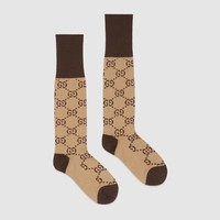 GUCCI Fashion GG pattern cotton blend socks G