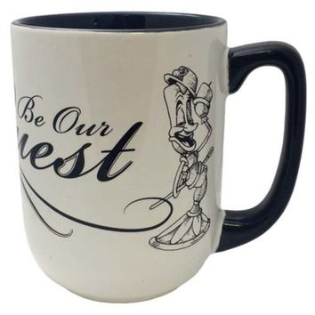 Lumiere Be Our Guest Beauty & The Beast Coffee Tea Mug Cup Disney Parks NEW