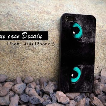 Black Cat Eyes - iPhone 4 Case, iPhone 4s Case and iPhone 5 case Hard Plastic Case