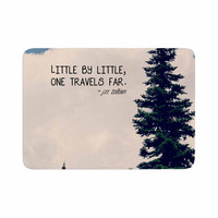 "Robin Dickinson ""Little By Little"" Clouds Typography Memory Foam Bath Mat"