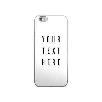 Custom Iphone Case, Custom Iphone 6 Case, Custom Phone Case, Iphone Case Clear, Iphone 6 Case Hipster, Iphone 6 Case Clear With Design, Gift
