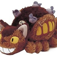 "Studio Ghibli My Neighbor Totoro 8"" Cat Bus Plush Toy w/ Gray"
