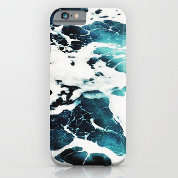 Dark Ocean Waves iPhone & iPod Case by cadinera