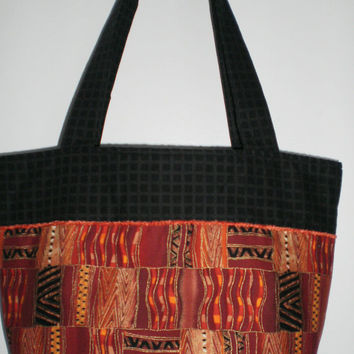 Tote Bag New Handcrafted Ethnic African Print Bible Bag Travel Tote Knitting Crocheting Crafts Computer Shopping Bag