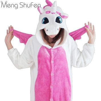 2017 Unisex Adult Unicorn pajamas Costume Cartoon Animal Panda Pajamas unicornio Onesuit Pyjamas For Men Women Girls