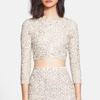 Women's Alice + Olivia 'Lacey' Embellished Crop