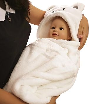 Baby Boys Blanket Towels Girls Newborns Baby Robes Spring Cartoon Bear Sleepwear Baby Robe Hooded Bathrobe Pajamas