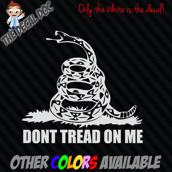 Dont Tread On Me snake Gadsden flag Die Cut Decal Sticker Car TRUCK USA 5""