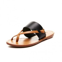 Soludos Leather Slotted Thong Sandal for Women - Soludos Espadrilles