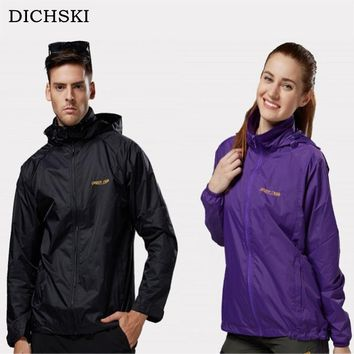 DICHSKI Spring Unisex Scratch-resistant Breathable Soft Shell Rain Jackets