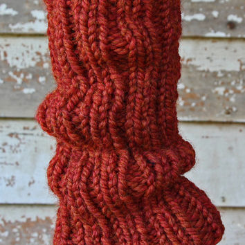 Women's Leg Warmers Pattern - Ribbed Slouchy Leg Warmers - Instant PDF Download
