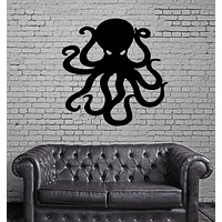 Octopus Ocean Marine Sea Decor Wall Mural Vinyl Art Decal Sticker Unique Gift M487