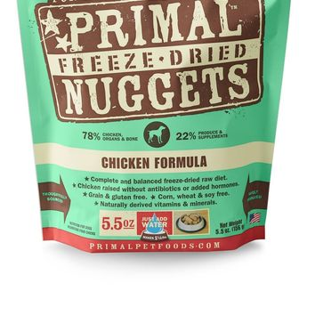 Primal Pet Foods Freeze Dried Food For Dogs CHICKEN 5.5 oz OR 14 oz