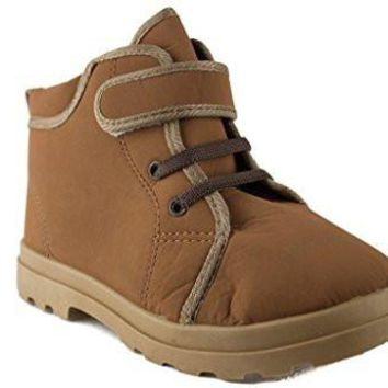 Kids 932 Boys Desert Suede Fleece Lined Chukka Boots