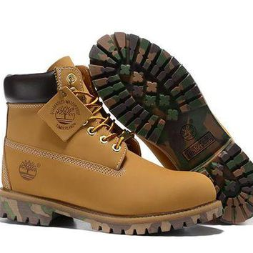 ONETOW Timberland Rhubarb Boots 2017 Camouflage Waterproof Martin Boots 36-45