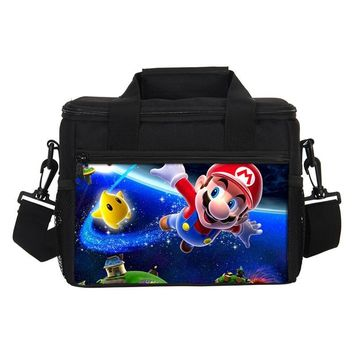 Super Mario party nes switch VEEVANV Thermal Lunch Bags  Girls School Lunch Box Insulated Picnic Cooler Bags Women Portable Food Storage Container AT_80_8