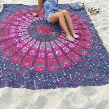 Mandala Patterned Blanket [7278892999]