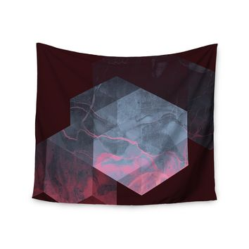 "Cafelab ""Dramatic Geometry"" Black Pink Geometric Wall Tapestry"