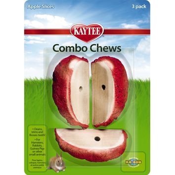 Kaytee Combo Chews Apple Slices, 3-Pack