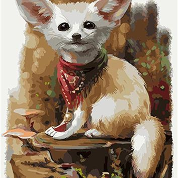 PAINTBOY Dog Framed DIY Painting By Numbers Painting&Calligraphy Acrylic Painting Wall Art  Home Decor For Living Room