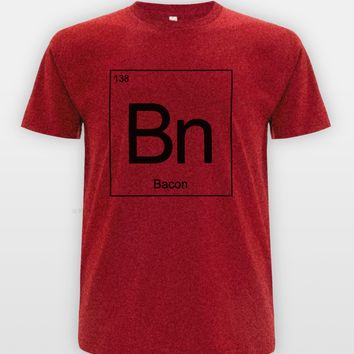 Bacon Periodic Table Printed T-Shirts - Men's Casual Novelty Tee