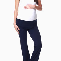 Navy Blue Maternity Yoga Pants