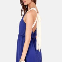 Honey Dipper Royal Blue Dress