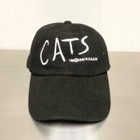 Vintage 1981 Cats Broadway Musical Strapback Dad Hat Cat Eyes 80's Promotional Hat Hipster Style For The Artist