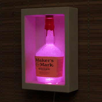 Makers Mark Whiskey Shadowbox Sconce Color Changing Liquor Bottle Lamp Bar Light  LED Remote Controlled Eco Friendly LED