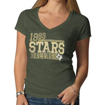 47 Brand Dallas Stars Ladies V-Neck Scrum T-Shirt - Green