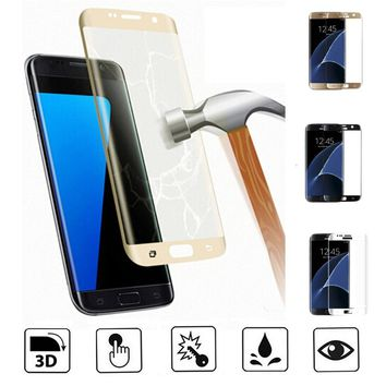 3D Full Cover Tempered Glass Screen Protector for Samsung Galaxy S6 / S6Edge / S7 / S7Edge / S8 / S8Edge Plus Phone Case