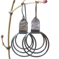 metalwork dangle earrings with fine silver torch by theBeadAerie