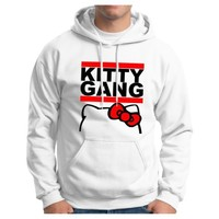 Kitty Gang Hoodie Sweatshirt Small White