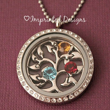 Family Tree of Life Necklace / Floating Locket / Memory Locket / Floating Charm Necklace