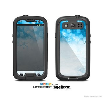 The Winter Blue Abstract Unfocused Skin For The Samsung Galaxy S3 LifeProof Case