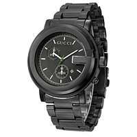 GUCCI Ppopular Ladies Men Casual Quartz Watches Business Wrist Watch Black I