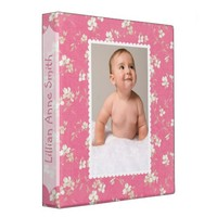 Pink Floral Baby Album