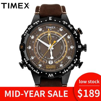 2018 Hot Timex Original Mens T2P141 Intelligent Quartz Luminous Tide Temp Compass Leather Buckle Strap Outdoor Sport Male Watch