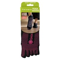 Gaiam Black All Grip Yoga Socks - S/M