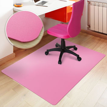 "Office Marshal Office Chair Mat Hard Floor - Pink 30"" x 48"" - 100% BPA Phthalate & Odor Free - Rectangular"