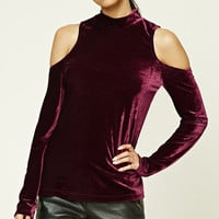 Velvet Open-Shoulder Top
