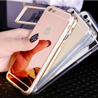 Womens Cosmetic Mirror Case for iPhone 5s 6 6s Plus Gift 11
