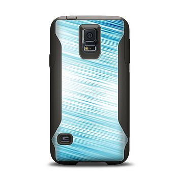 The Bright Diagonal Blue Streaks Samsung Galaxy S5 Otterbox Commuter Case Skin Set
