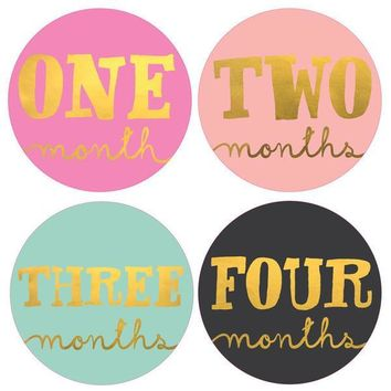 Lux Gold & Jewel Tone Monthly Milestone Stickers