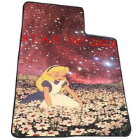 Stay Weird Alice in Wonderland Nebula 18193677-47e1-4dce-8e58-0807777bda31  for Kids Blanket, Fleece Blanket Cute and Awesome Blanket for your bedding, Blanket fleece *AD*