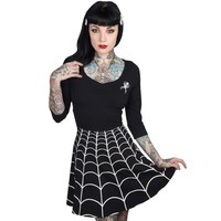Spiderweb White Skater Dress