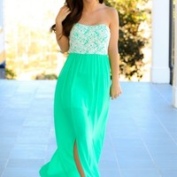 Beautiful Bouquet Maxi Dress-Kelly Green