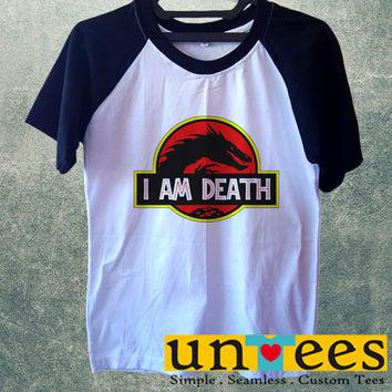I Am Death Short Raglan Sleeves T-shirt